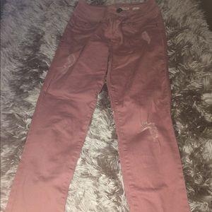 Rose pink jeans